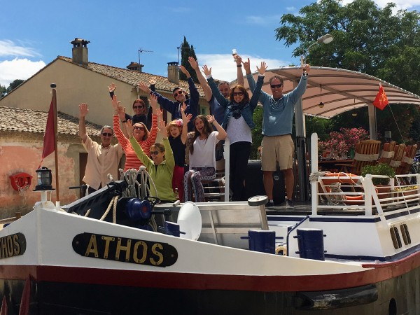 A very joyous family reunion cruising on the Athos!