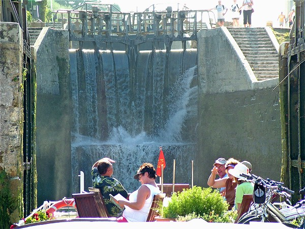 The Athos at Fonserannes, where you will find the 'staircase' of seven locks, an engineering marvel on the historic 300-year-old Canal du Midi near Beziers