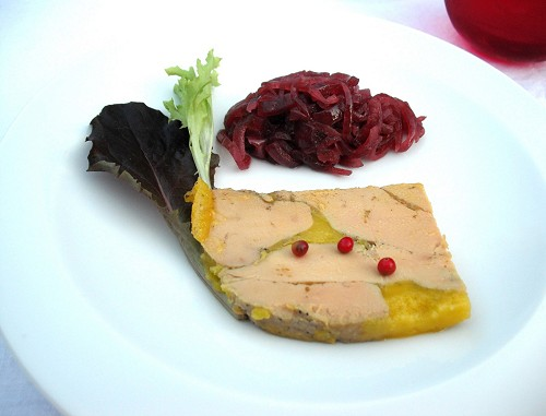 A taste of the gourmet cuisine served aboard the Alegria.