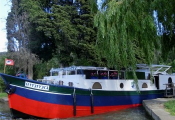 6-passenger Emma, cruising on the Canal du Midi.