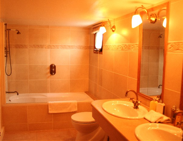 Each cabin has its own large, ensuite bathroom