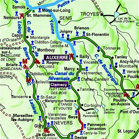 The L'Art de ViVre's route through Northern Burgundy, from Auxerre to Chevroches on the Canal du Nivernais.