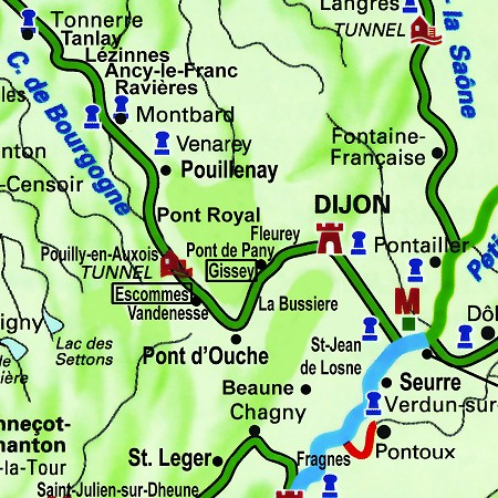 The Saroche's routes through Burgundy, on the Canal de Bourgogne from Gissey-sur-Ouche to Escommes.