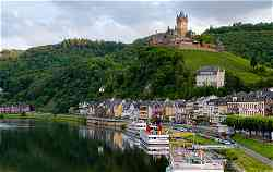 Top Barge Cruises in Europe: Barge Cruise Scene in Germany: Cochem castle along the Mosel River