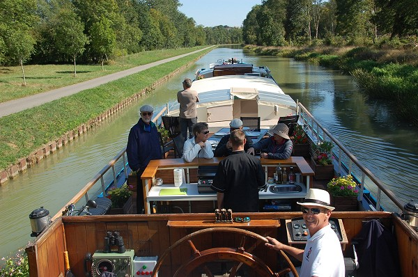 What a marvelous way to cruise the Canal de Bourgogne!