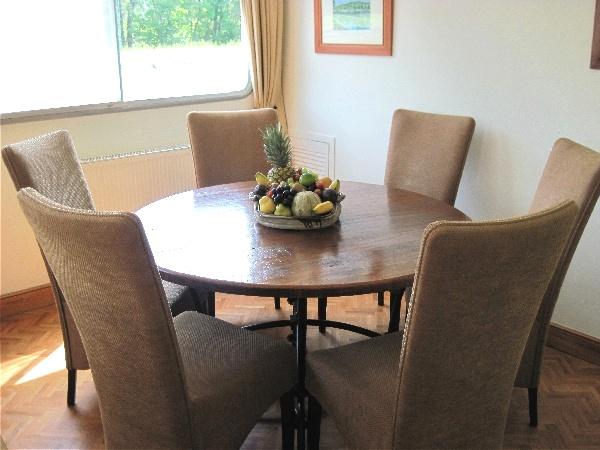 The dining area is great for meals with friends or family
