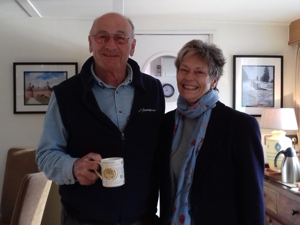 Your owners and hosts, George and Susan, will welcome you aboard the Meanderer