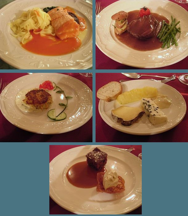 Dining aboard the Napoleon: Exceptional cuisine is one of the outstanding highlights of the cruise week!