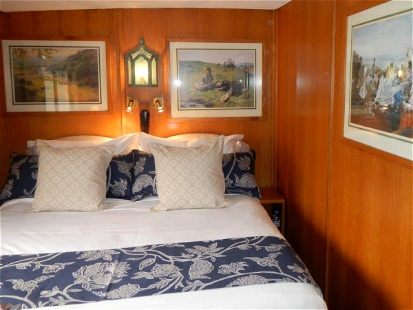 The cabins aboard the Napoleon offer either queen or twin size accommodations
