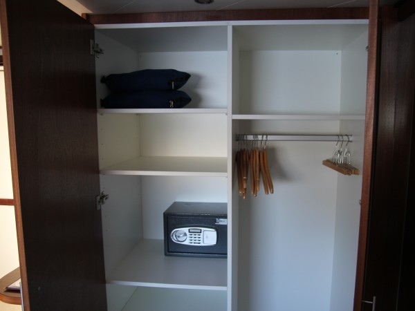 All cabins aboard the Panache have a spacious armoire with private safe