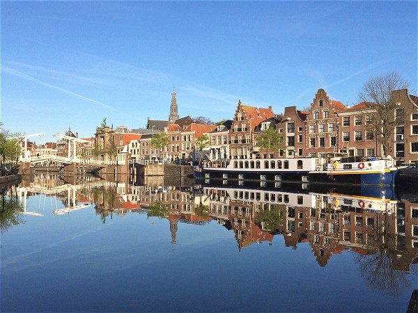 Panache moored in the historic city of Haarlem