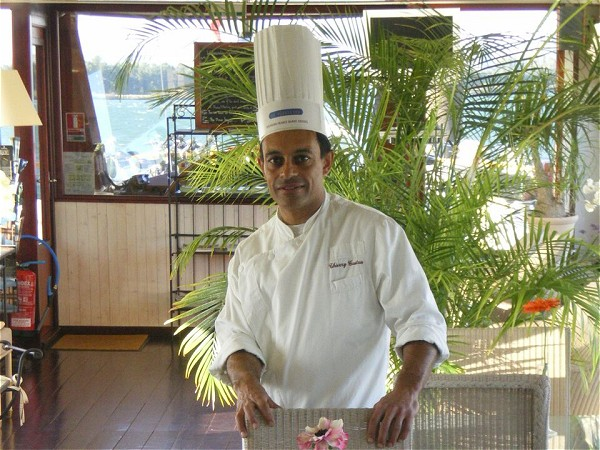 Le Phenien's talented on board Chef Thierry