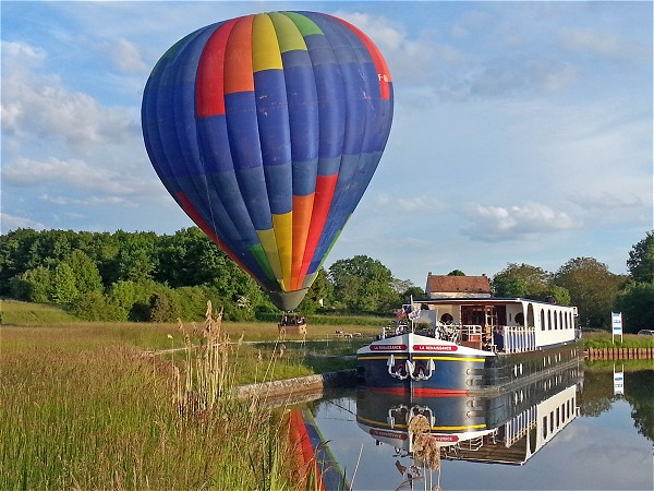 Enjoy a hot air balloon ride over the beautiful Upper Loire