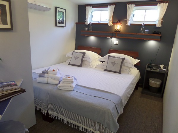 The cabins aboard the Saint Louis offer either double or twin accommodations