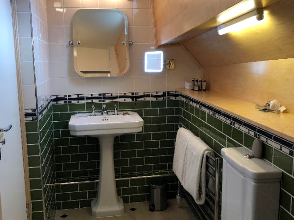 Each cabin aboard the Saroche offers its own lovely, tiled ensuite bathroom
