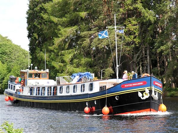 The First Class 8-passenger hotel barge Scottish Highlander