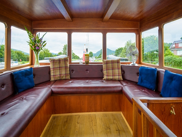 The new enclosed observation area aboard the Scottish Highlander