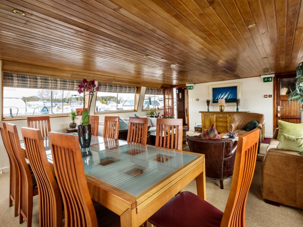 The Dining Area Aboard the Shannon Princess II