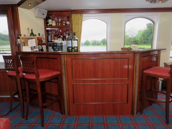 The well stocked bar is accessable at all times aboard the Spirit of Scotland