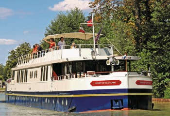 12-passenger Spirit of Scotland, cruising on the Caledonian Canal.