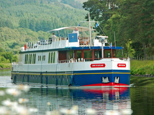 The Deluxe 12-passenger hotel barge Spirit of Scotland