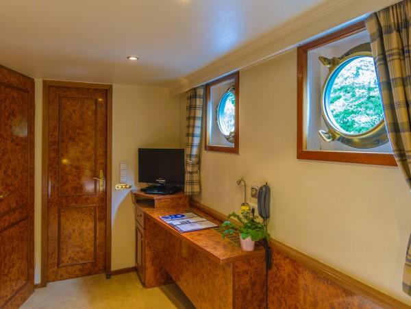 Each cabin has a built in credenza