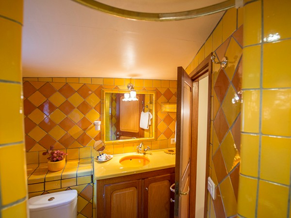 The ensuite bathroom for the Van Gogh cabin